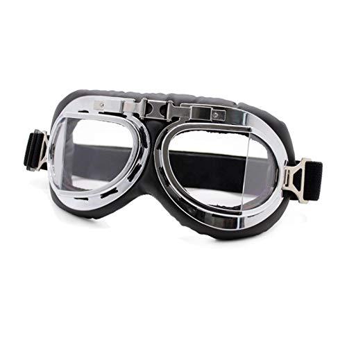 Gafas De Moto,Gafas De Motocross Gafas de motocicleta Gafas Vintage Motorbike Classic Retro Gafas for Harley Eyewear Protección Moto Motocross Gafas (Color : Retro Goggles 1 C)