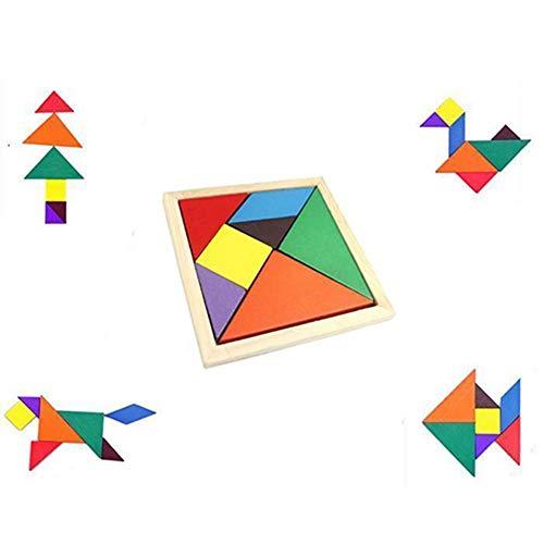 PULABO カラフルな木製タングラム脳のお誘いパズル教育発達子供のおもちゃクリエイティブで な軽くて、持ちやすい耐久