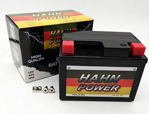 Batterie YB4L-B GEL HAHN POWER