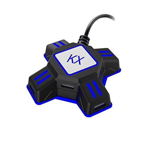 Chunyang Tragbare Tastatur-Maus-Konverter für PS3 / PS4 für Xbox EIN für Switch Tastatur-Maus-Adapter