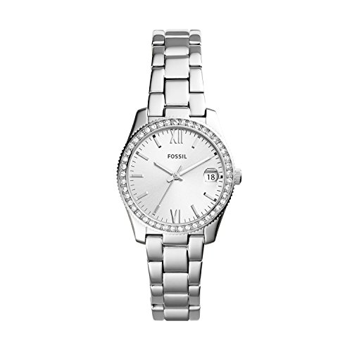 Fossil Women's Scarlette Quartz Stainless Three-Hand Watch, Color: Silver (Model: ES4317)