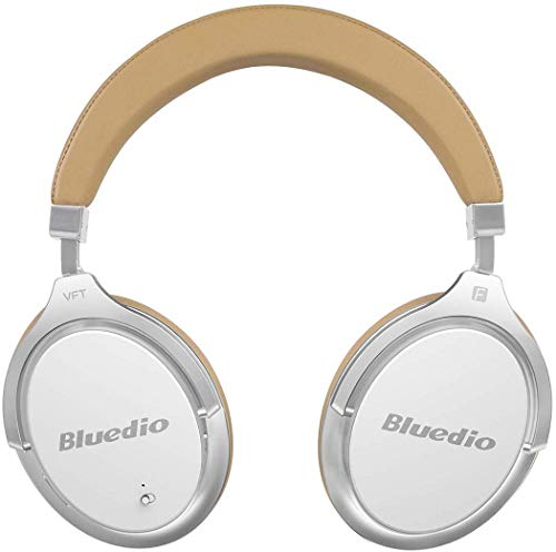 Bluedio Active Noise Cancelling Bluetooth Headphones, High-End ANC /3D Sound Effect /180° Rotation/Wireless&Wired Over Ear Headphones with Gift-Package/Carrying Case (White)