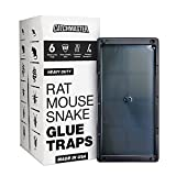 Catchmaster Heavy Duty Rat, Mouse, Snake, and Insect Trap - 6 Glue Trays - with Hercules Putty Fastener