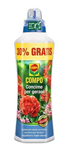 Compo 1434102005 Concime per Gerani, 1 L, Verde, 9x18.7x27 cm