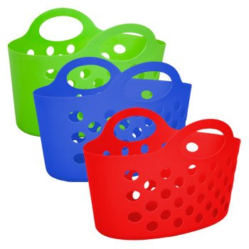 Assorted Multicolor Basket with Handles 3ct