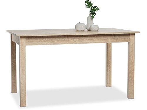 möbelando Esszimmertisch Holztisch Küchentisch Auszugstisch Tisch Esstisch Crawley III Sonoma-Eiche