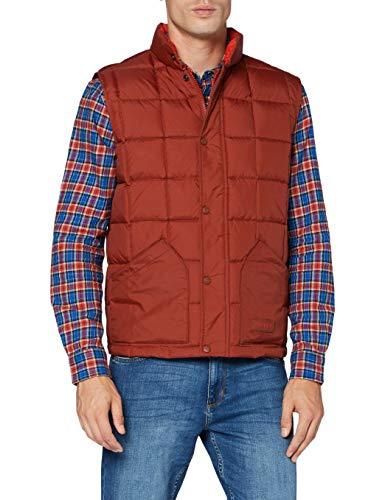 Wrangler The Vest Chaqueta, Marrón Oxidado, S para Hombre