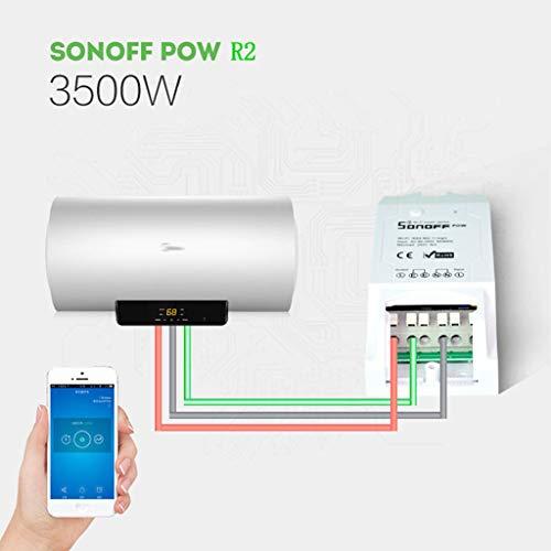 Sonoff Pow R2 WiFi Inalámbrico Interruptor ON/Off 16A Con Medición del Consumo De Energía en...