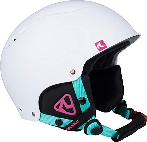 REAPER Frey-JR Casco da Sci per Bambini Casco da Snowboard Regolabile (Bianco, XS/S)