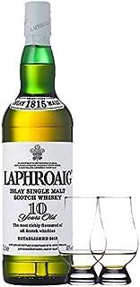 Laphroaig 10 Jahre Islay Single Malt Whisky 0,7 Liter  2 Glencairn Gläser