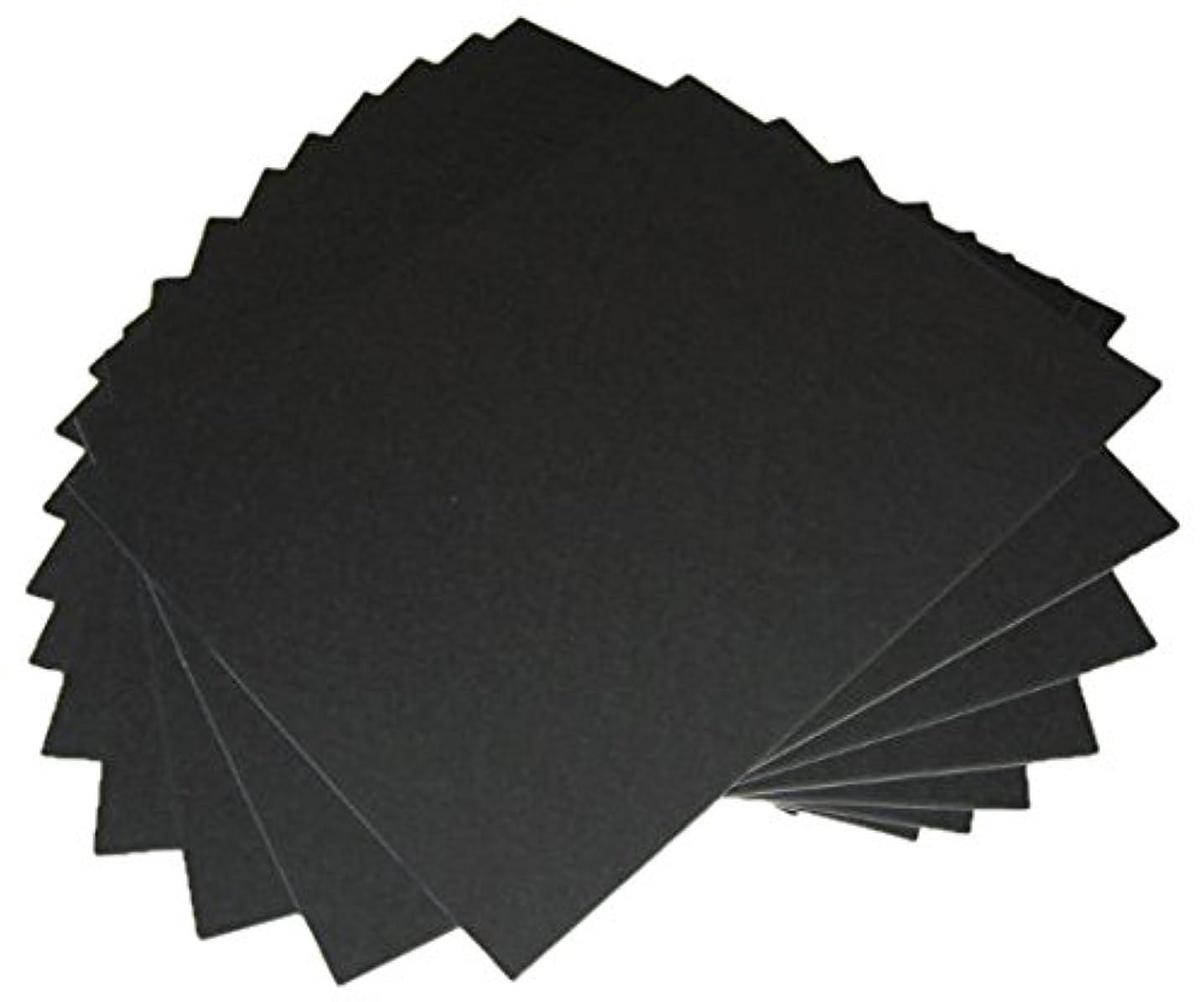 100 8x10 UNCUT mat matboard BLACK Color