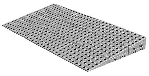 Schwellenrampe Modular für innen | Rampe für Türschwellen | In verschiedenen Höhen erhältlich | Rollstuhlrampe (5,6 bis 7,2 cm x 75 cm)