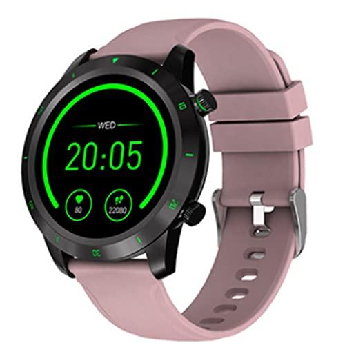 LOVOUO Reloj Inteligente Deportivo táctil Completo de círculo Completo de 1.3 (Seguimiento de Fitness Impermeable IP68 con Monitor de frecuencia cardíaca, podómetro de monitoreo del sueño)