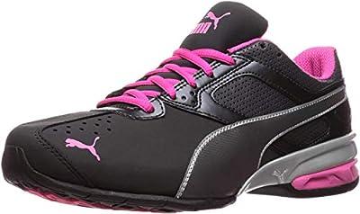 PUMA Women's Tazon 6 WN's fm Cross-Trainer Shoe Black Silver/Beetroot Purple, 7 M US
