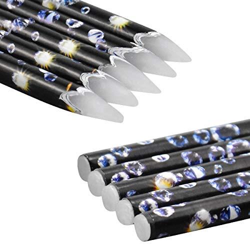 Diamant Malerei Zubehör 5 Stück Wachsstift Diamond Painting Stift Stickerei Zubehör Werkzeug für Nails Strass Edelsteine Nail Design Dotting Tool Set