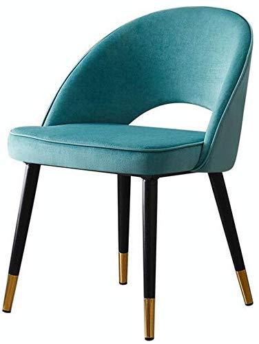 WSDSX Freizeitstühle Esszimmerstühle Rückenlehne Tisch Stuhl Gepolstertes Wohnzimmer Schlafzimmer Büro Freizeit Empfangsstuhl Einfach zu montieren Langlebig stark