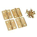 Las bisagras ornamentadas 4pcs 24x18mm gabinete Armario de arma de la puerta Caja de cajón cajón caja de joyería de bisagra Caja de muebles accesorios
