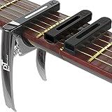 protecnika® capotasto 4 in 1 cromato ad alte prestazioni per chitarra elettrica classica acustica basso nuova versione colore grafite lucido