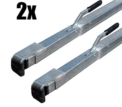2 x Spannbrett, 1,92-2,72 m Zwischenwandverschluss Klemmbalken