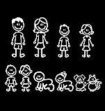 Suministros Kawaii Divertidas de la Familia Decorativo Elemento Reflectante automático de la Etiqueta engomada del Coche de la Historieta del Coche de Parachoques Cuerpo Decal