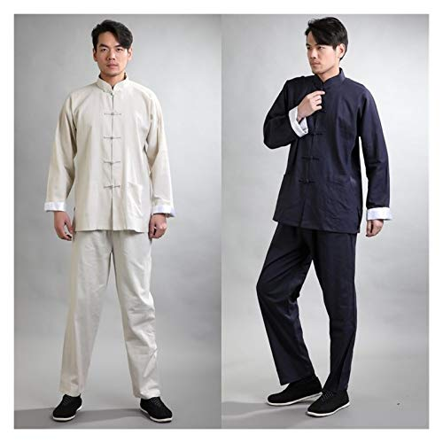 LINFENG Disfraz Tai Chi Traje Retro Espiga Traje de los Hombres Algodón...