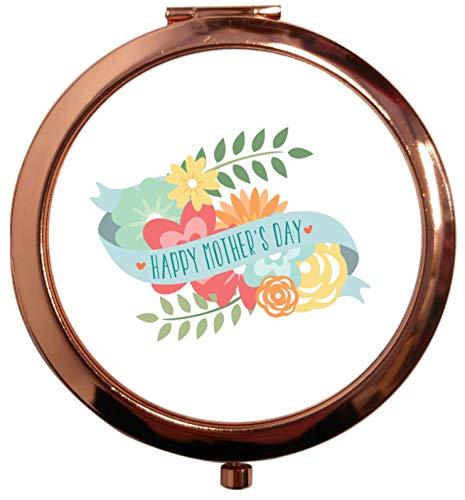 Flox Creative Miroir carré carré doré rose