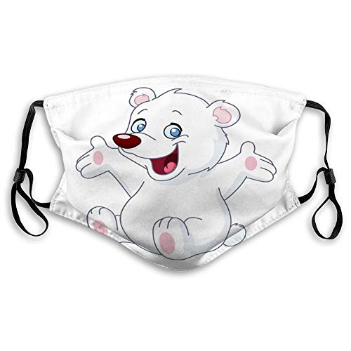 Washable Breathable Shield happy white teddy bear Reusable Cover