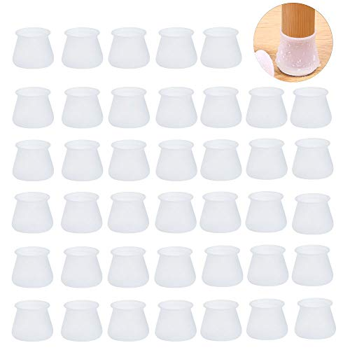 Lezed almohadilla de Caucho para muebles sillas Tapas para Las Piernas de la Silla Protectores de Piso para Pata de Silla para el Suelo Silla para el Suelo para 12-16 mm Patas Redondas 32 Piezas Negro