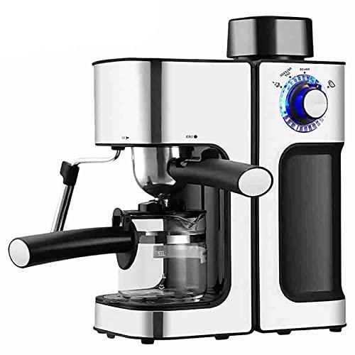 Ekspres do kawy maszyna do kawy maszyna do kawy maszyna do kawy automatyczne milka piana fantazyjna ekspres do kawy odpowiednia do warzenia kawy (Color : Silver, Rozmiar : One size)