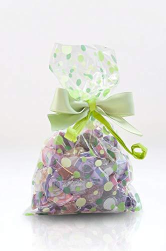 Italpak Buste (Sacchetti) Trasparenti per Alimenti Bubbles 50 pz, Polypropylene, Verde, 9x12,5cm
