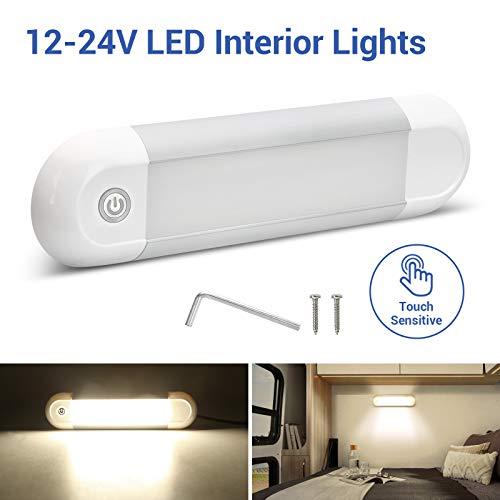 SUPAREE 12v LED Iluminación Interior lámpara Luz de Interior del Coche de LED para Vehículos, Camión, Caravana, Barco, Autocaravanas, Universal el Interruptor del Tacto