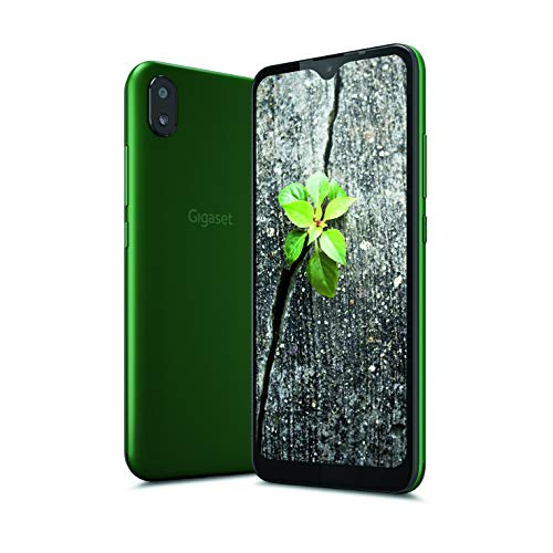 "Gigaset GS110 Smartphone (6,1"" V-Notch HD-Display, Gesichtserkennung, Dual-Sim, 16GB Speicher, 1GB RAM, Akku 3000 mAh, 4G LTE, Android 9.0, Handy, ohne Vertrag) british racing green"