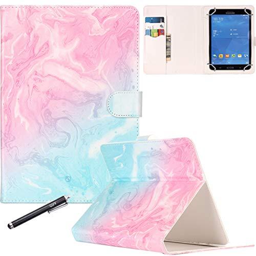 Newshine Schutzhülle für 17,8 cm (7 Zoll) Tablets, mit Standfunktion, Magnetverschluss, für alle Tablets mit 17,8 cm (7 Zoll), einschließlich Samsung Lenovo Kindle 01 Blue und Pink