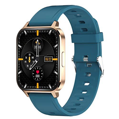 APCHY Smart Watch Reloj Inteligente,Monitores De Actividad De Pantalla Táctil TFT De 1.7 Pulgadas,Rechazo De Llamada Q18 Pulsera Inteligente, Pulsera Deportiva De Aleación De Aluminio,C