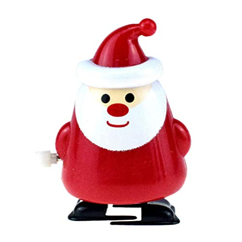 Amosfun Aufziehspielzeug Wind Up Weihnachtsmann Figur Deko Schneemann Uhrwerk Spielzeug Aufziehfigur Dekofigur Weihnachten Deko Figuren Geschenk für Baby Kinder Lustiges Spielzeug