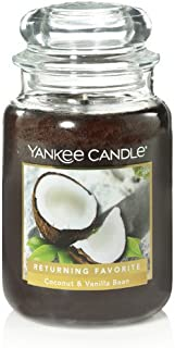 Yankee Candle Coconut & Vanilla Bean Large Jar Candle, Food & Spice Scent
