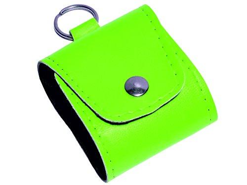 Homöopathische Notfallapotheke mit 4 Schlaufen/Braungläsern (UV-Schutz) und Etiketten, Leder apfelgrün