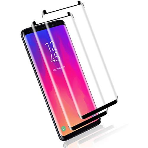 Mriaiz Panzerglas Schutzfolie für Samsung Galaxy S8, [2 Pack] Perfekte Qualität Gehärtetem Glass [Full Coverage] [9H Härte] [Blasenfrei] [Anti-Kratzer] Panzerglasfolie für Galaxy S8