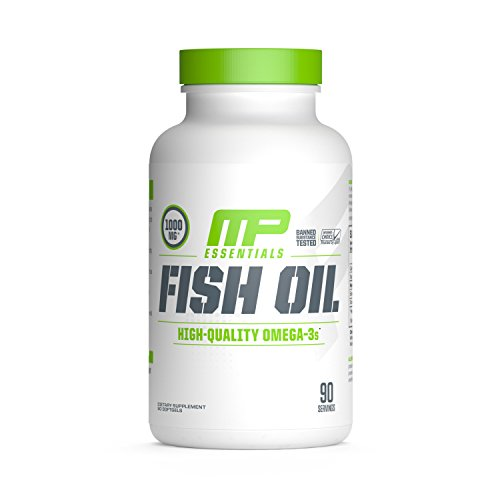 MusclePharm Essentials Omega-3 Fish Oil, 1000mg Softgels, 90 Servings