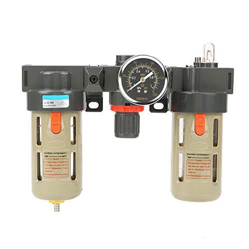 Akozon luchtfilterregelaar G1/2 luchtbron gasbehandelingseenheid filterdrukregelaar met manometer verschildering automatische afvoer pneumatische componenten regulator filter gas processor