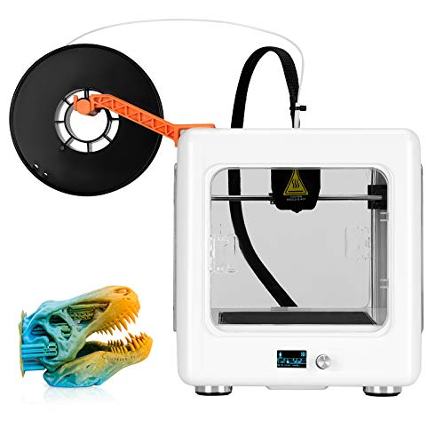 Kacsoo Mini 3D Printer for Kids & Beginners with Digital Display No Assembly Required 3D Printer with Protective Window Magnetic Plate and Free Testing Filament, Printing Size 110 x 110 x 90 mm