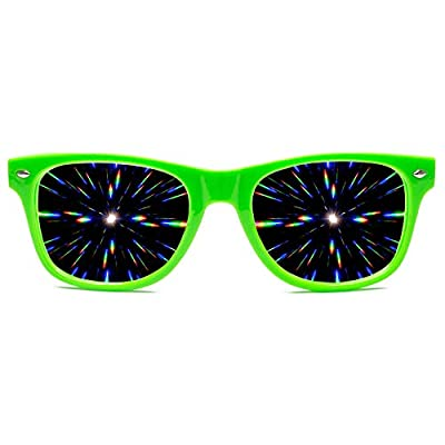 GloFX Ultimate Diffraction Glasses - 3D Prism Effect EDM Rainbow Kaleidoscope Style Rave Sunglasses
