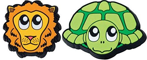 Gamma Sports Zoo Damps Vibration Dampeners (2-Pack), Unisex, Schlägerzubehör Zoodamp 2er Schildkröte Löwe, Turtle/Lion, S