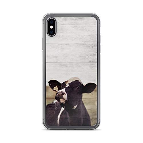 Compatible for iPhone Xs Max Case Dairy Farming Rustic Country Bull Design Cow Lover Gifts Anti-Scratch Covers