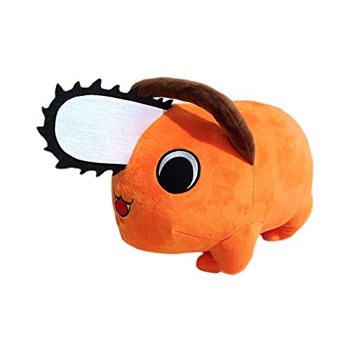 Heionia Chainsaw Man Anime muñeca personaje Pochita colgante muñeca de peluche pequeño hombre motosierra relleno peluche decoración suave dulce regalo para amigos familia (naranja)