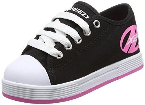 Heelys Fresh 770497, Mädchen Lauflernschuhe Sneakers, multi (Black/Pink), 35 EU 3 Child UK