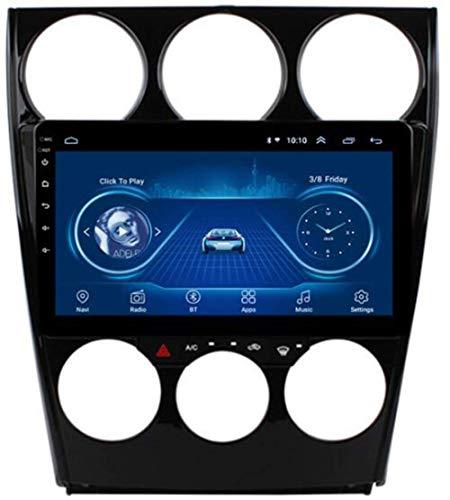 Estéreo 9'Pantalla táctil Android 9.0 Doble DIN GPS Radio de navegación para Mazda 6 2002-2008 Reproductor Línea de Espejo Control de Volante Bluetooth SWC Dab USB