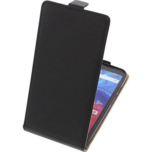foto-kontor Tasche für Archos Core 55 Smartphone Flipstyle Schutz Hülle schwarz
