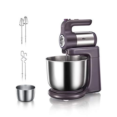 Bear Küchenmaschine, Kapazität 4 l, 300 W, 5 Geschwindigkeitsstufen, Knetmaschine für Backwaren, Kneten, Schlagen, Mixen, BPA-frei, 2 Teighaken und 2 Mixer [CE ERP LFGB ROHS Zertifizierung]