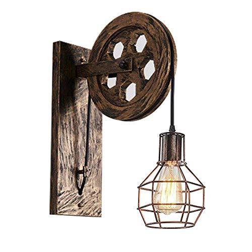 Beautiful lampen/retro wandlamp van metaal/tafellamp van industrieel hout/nostalgie/cafe bar wandlamp/wanddecoratie zonder lampen